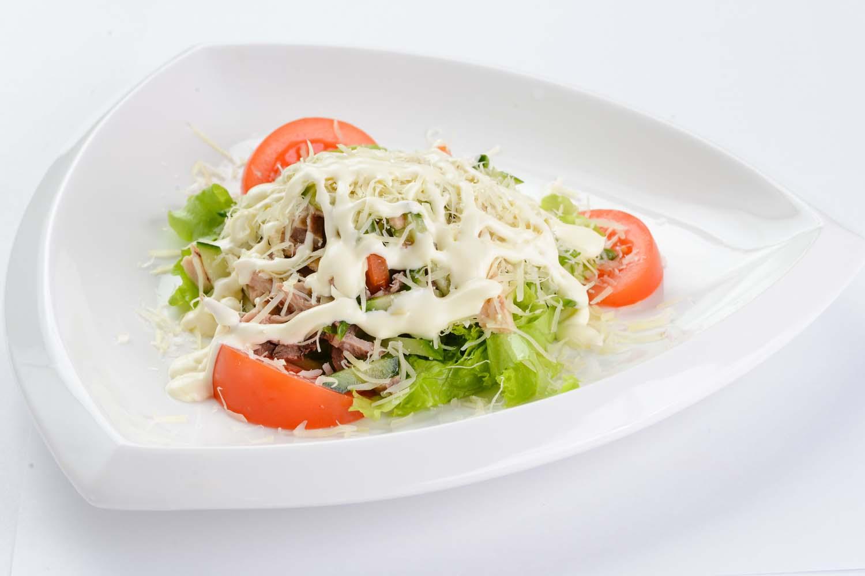 Мясной салат