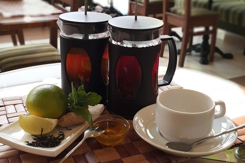Чай с имбирём и лаймом