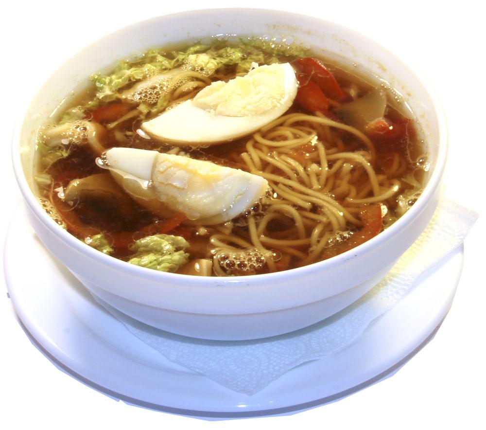 Суп рамэн с кальмаром